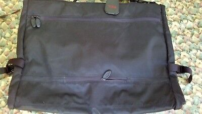 TUMI Ballistic Nylon Gray Bi Fold Dress Suit Carry-On Garment Bag Black