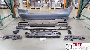 MB W212 2013-15 E63 Style Rear Bumper Cover + Diffuser E200 E350 E400 E63 No Pdc