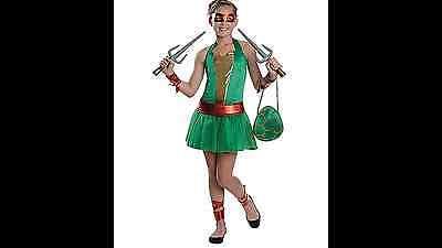 Teenage Mutant Ninja Turtles Raphael Tween Female Costume BRAND NEW - Female Tmnt Costume
