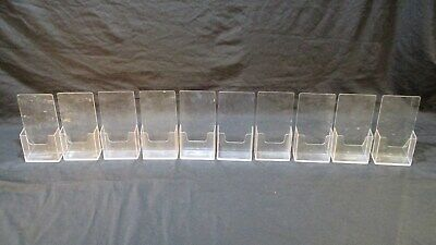 Acrylic Literature Brochure Holder Desk Table Top Stand Display 4x 8 Lot Of 10