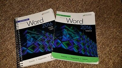 Marquee Series  Microsoft  R  Word 2016 Levels 1  2 And 3