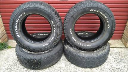 BFG 265-70 x 17 tyres x 4 **REDUCED was $550**