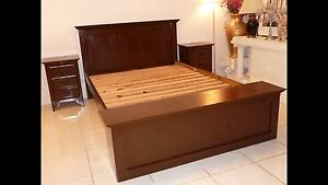 CHOCOLATE BROWN SOLID TIMBER QUEEN BEDROOM SUITE Eight Mile Plains Brisbane South West Preview