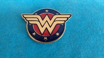 Wonder Woman Logo Emblem 1.5 Inch Metal Metallic Sticker