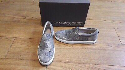 Kennel & Schmenger Town Snake pumps.RRP £230.6.5 UK.Grey suede with diamontes