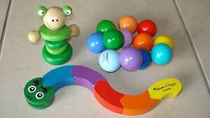 BUNDLE of Quality Wooden Toys for Your Baby Beaudesert Ipswich South Preview