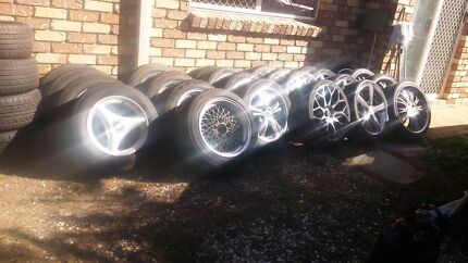 """Bulk mag wheel and tyre sale 15"""" to 20""""  Springfield Ipswich City Preview"""