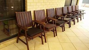 Timber Outdoor Chairs Ellenbrook Swan Area Preview