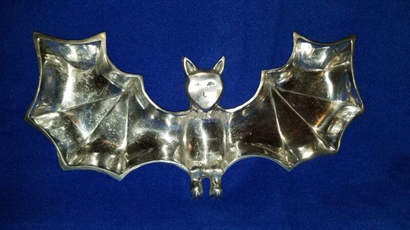 Metal Halloween Bat Shaped Candy Dish