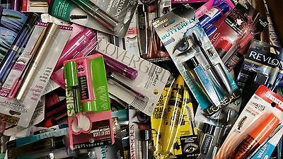 Lot of 25, Assorted Name Brand Mascara, Maybelline, Loreal, Covergirl, Black(s)