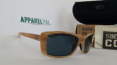 37f88f7888be New Costa del Mar Pluma Polarized Sunglasses Morena Grey 580P Women s