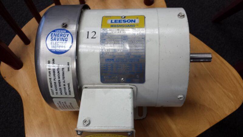 112523.00  Leeson Washdown Motor 1/4 HP