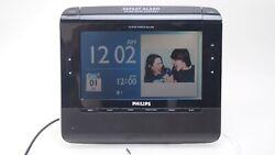 Philips Clock Radio AJL308 Alarm Photo Video MP3 SD Windows Media