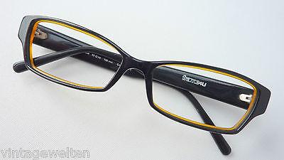 Schwarze Damenbrillen Frauenbrille mit breiten Bügeln, schmale Cateyeform Gr. M