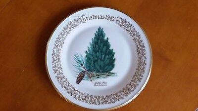 Lenox China Christmas Tree Plate 1982 Aleppo Pine