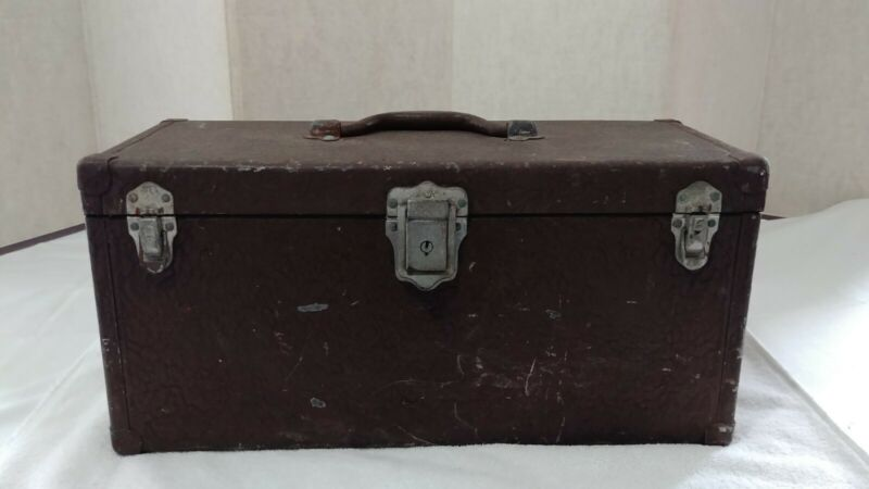 Outing MFG CO Handy Boxes Tackle Box! Elkhart, Indiana!  Industrial Art Deco!!