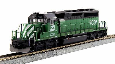Kato ~ New 2019 ~ HO Burlington Northern SD40-2 #7036 Diesel BN DCC Ready 376604 (Kato Sd40 2)
