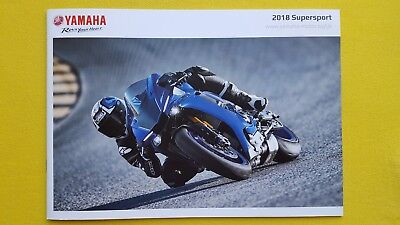 Yamaha Supersport R1M R1 YZF R1M R6 motorcycle sales bike brochure 2018 MINT