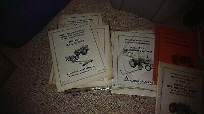 Allis Chalmers 80t 82s B 5 80r 80s1 82r 82t 80s Sicklebar Mower Manual
