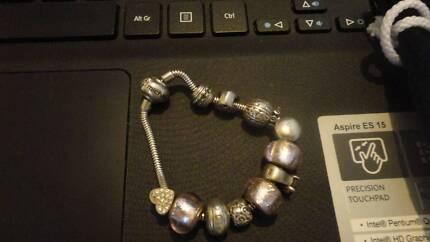 Michael Hill S/S Bracelet + 9 x S/S Charms (not Michael Hills)