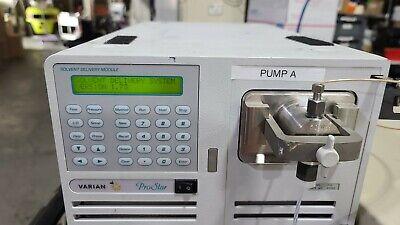 Varian Prostar Model 210 Hplc Pump 50 W Pump Head 6000psi 50ml Pressure Module