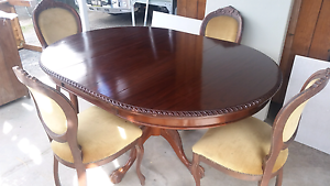Antique dining table round or oval hand crank extendable Auchenflower Brisbane North West Preview