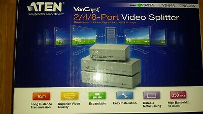 ATEN VS92A-C - 2/4/8-PORT VIDEO SPLITTER 1920 x 1440@60Hz - NEW NEU IN BOX