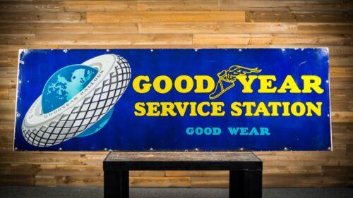 Original Goodyear Tires Service Station Porcelain Sign