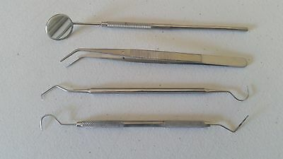4pcslot Stainless Dental Tool Set Kit Dentist Teeth Clean Hygiene Picks Mirror