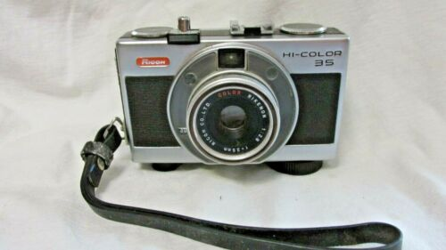 VINTAGE 1970s RICOH HI-COLOR 35 CAMERA SHUTTER WORKS!