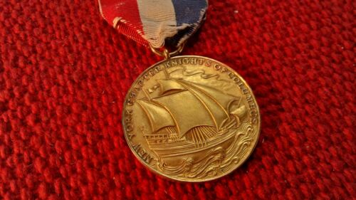 1929 Knights of Columbus School Ship Athletic Swim Day Sport Award  Medal