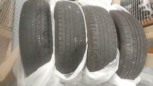 All season tires p185 65 r15 plus spare donut tire FREE!