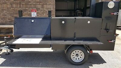 Rib Master Cutting Board Nsf Bbq Smoker 36 Grill Trailer Food Truck Cart Vendor