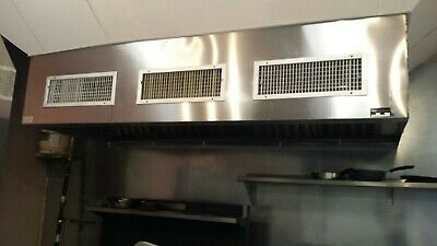 10x4 Stainless Steel Restaurant Hood With Ansul Fire Protection System