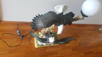 Eagle statue with lamp