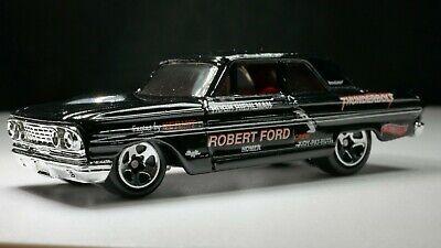 1964 Ford Thunderbolt 1/64 Scale Diecast Diorama Rare Car Black / Red Interior