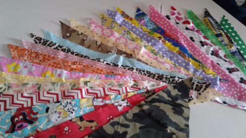 12 Grooming Dog Bandana/Scarf Tie On Custom made by Linda, S