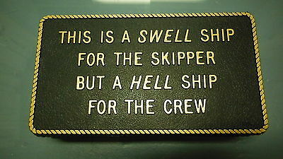 "Boating & Marine Plaque Signage - ""A Swell Ship"""