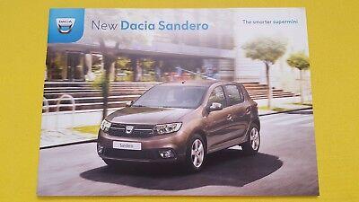 Dacia Sandero SCe 75 TCe 90 dCi car brochure sales catalogue February 2018 MINT