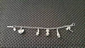 Disney Charm Bracelet Silver Tone Beechboro Swan Area Preview