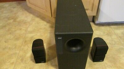 BOSE ACOUSTIMASS 5 Series II Passive Speaker System Subwoofer W two Cubes