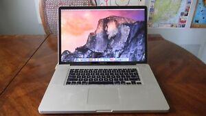 Apple MacBook Pro 17 Early 2011 Intel Core i7 Quad Core 8GB RAM 500GB HDD