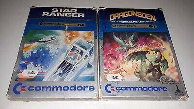 Lotto COMMODORE 64 GIOCHI CARTUCCIA ~Dragonsden Star Ranger VINTAGE RARI