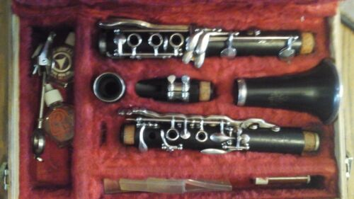 Vintage clarinet wind instrument, Double L LeBlanc  serial number 22412 1965