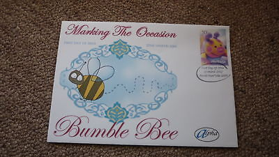 2005 AUSTRALIAN ALPHA STAMP ISSUE FDC, MARKING THE OCCASION BUMBLE