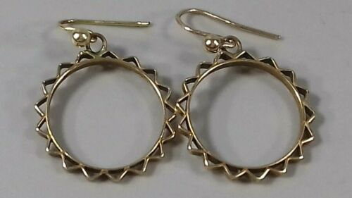 ANTIQUE 9CT GOLD ETRUSCAN EARRINGS