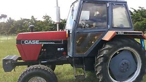 Reliable 77hp turbo diesel tractor with slasher Diggers Rest Melton Area Preview