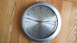 FIRSTIME  Plazma Steel Modern Round Wall Clock ,11 Whisper Technology ,Silver