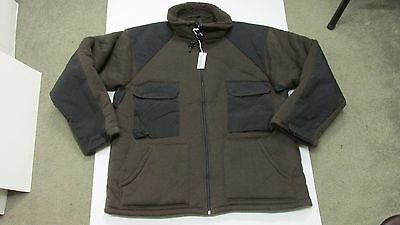 US GI Military Cold Weather Brown Bear Jacket Fleece Lined Tennier Industries XL