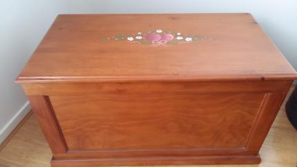 Wooden Blanket or Storage Box